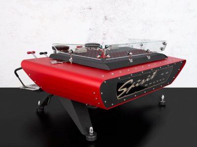 Custom Espresso Machine Spirit Red Black